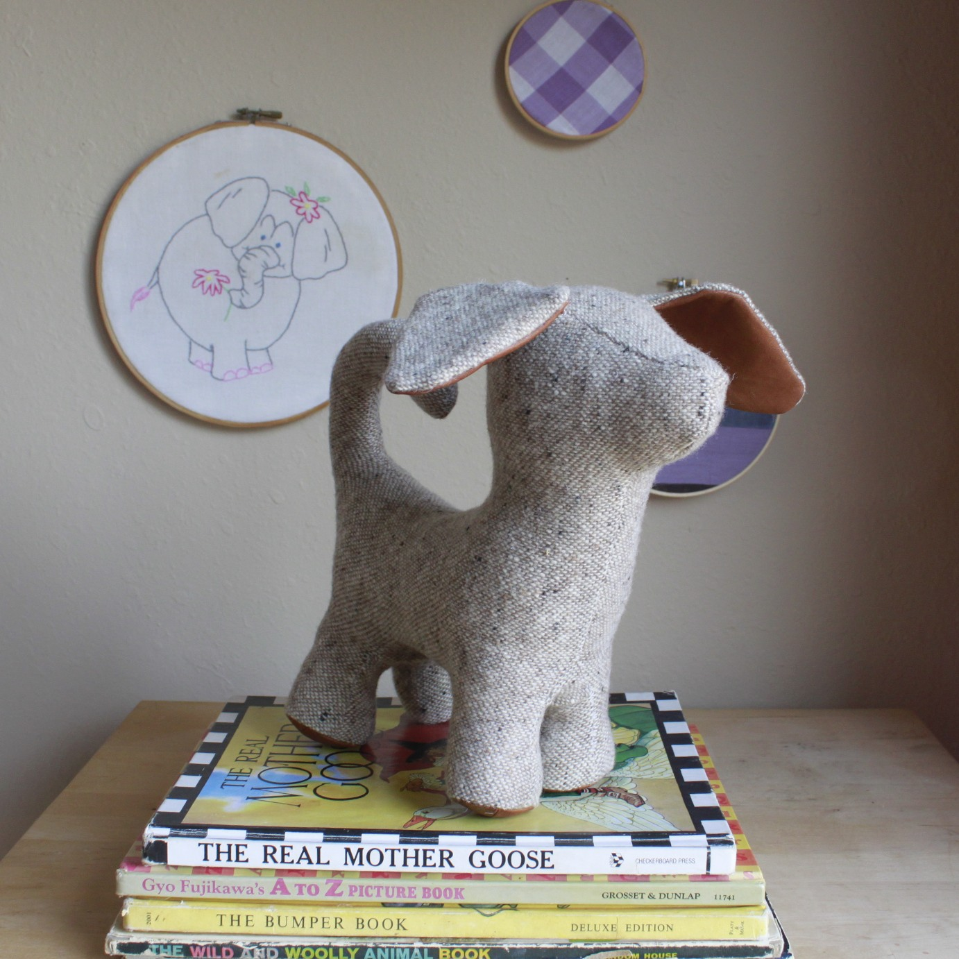 upcycled plush dog