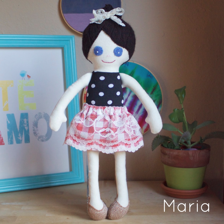 Maria - Large handcrafted doll - product image