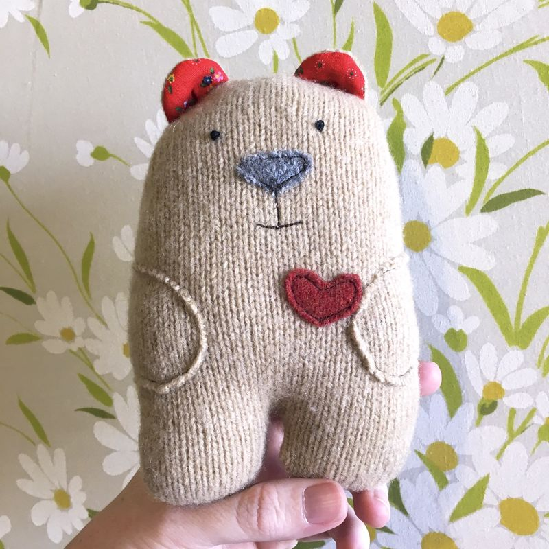 Bumble - Wool Plush Bear - product image
