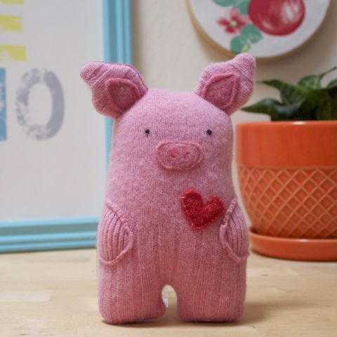 Snuffle,-,Wool,Plush,Pig, pig, ecofriendly, handmade toy ,handmade plush, wool, baby gift, Piggy