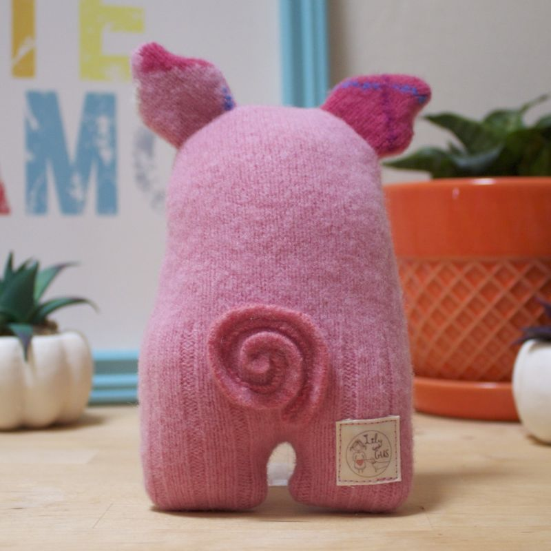 Snuffle - Wool Plush Pig - product image