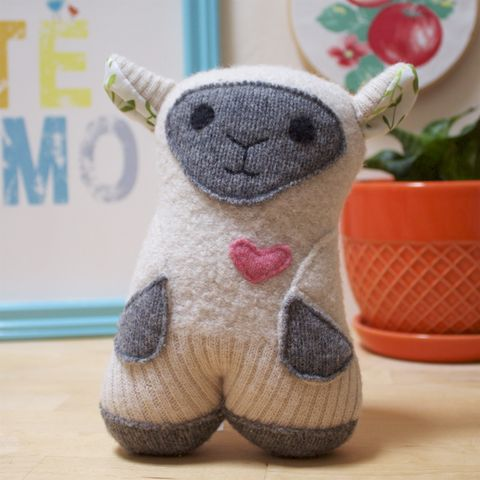 Annie,-,Wool,Plush,Sheep, sheep, ecofriendly, handmade toy ,handmade plush, wool, baby gift, lamb