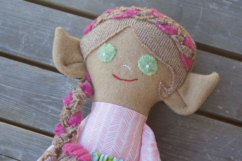 Liliana - Small handcrafted elf doll - product image
