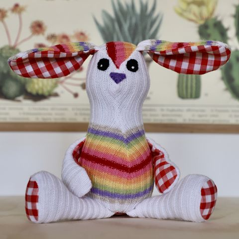Beau,-,cotton,handmade,rabbit,plush rabbit, handmade, eco friendly stuffed toy, easter bunny, unique bunny toy, plush bunny, stuffed rabbit