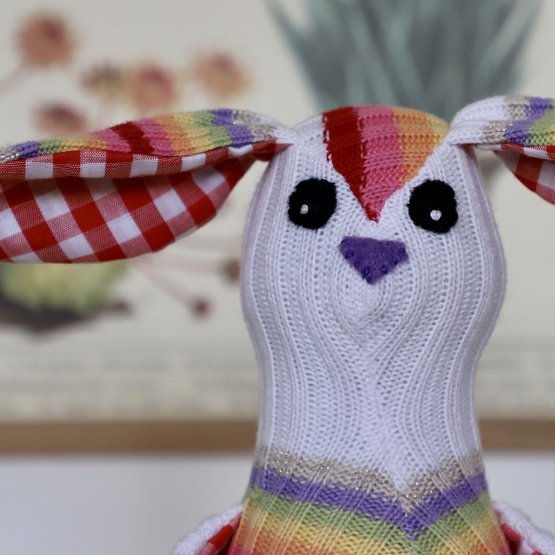 Beau - cotton handmade rabbit - product image