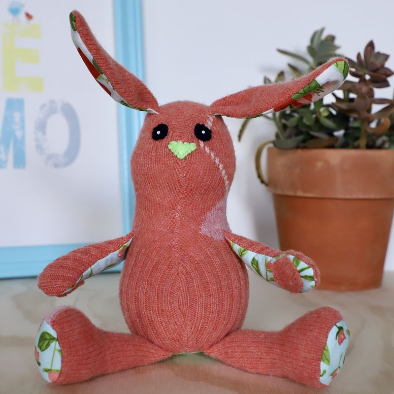 Emmaline - wool handmade rabbit - product image