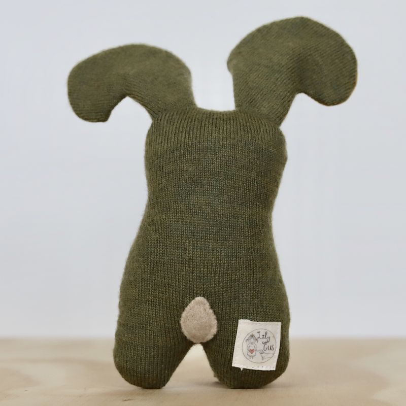Leo - Upcycled wool bunny - product image