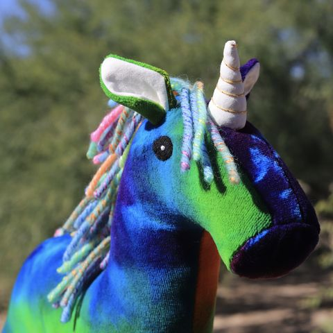 Rainbow,Unicorn,-,Limited,Edition,2018,Lily,&,Gus,and,Shanna's,Tie,Dye,unicorn, plush, handmade plush, ecotoy, organic toy, tie dye