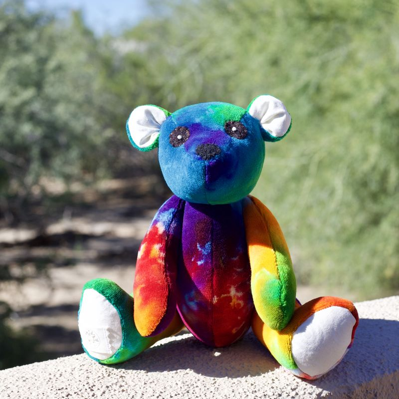 Rainbow Teddy Bear - Limited Edition 2018 Lily & Gus and Shanna's Tie Dye  - product image