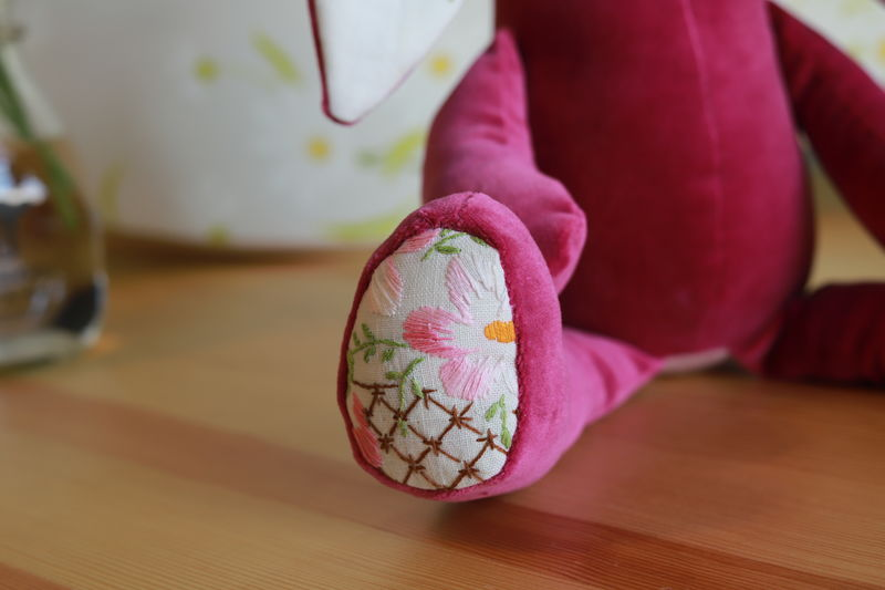 Katherine - upcycled velveteen rabbit - product image