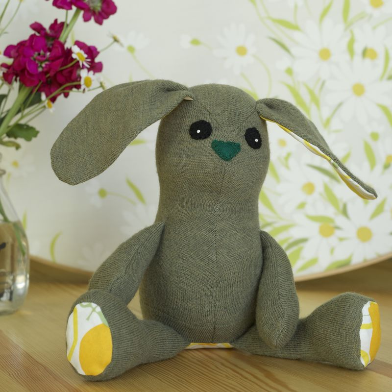Denny - upcycled wool rabbit - product image