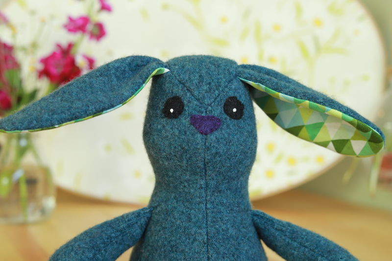 Luca - upcycled wool rabbit - product image