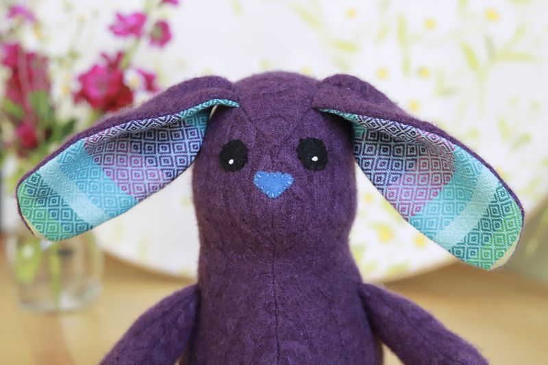 Indy - upcycled wool rabbit - product image