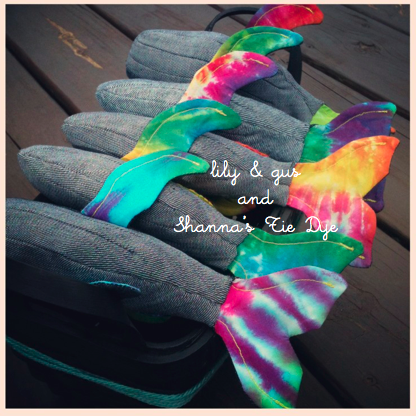 Upcycled & organic lily & gus/Shanna's Tie Dye whale - product image