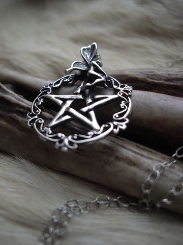 pentacle,and,fairy,necklace,,sterling,silver,,victorian,,gothic,style,Jewelry,Necklace,Metalwork,religious_protection,womans_talisman,romantic_feminine, fairy, fantasy, pixie  ,metal_charm_for_her,sterling_pentacle,dark_chain,witch_jewelry,witches_of_etsy,metaphysical,spiritual_jewelry,sterling_silver,wiccan_pagan,bear_coun