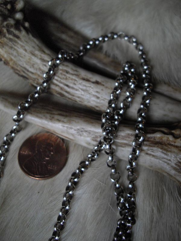 sterling silver antiqued 3.9mm  rolo chain in 20 inches - product images  of