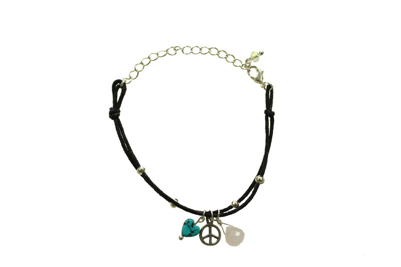 Peace charm friendship bracelet - product image