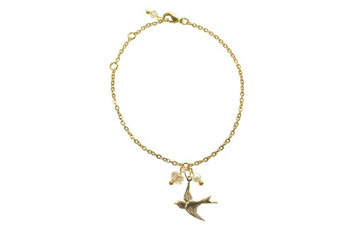Summer,Swallow,charm,chain,bracelet,Friendship bracelet, Charm bracelet, Charms, Vintage jewellery, Custom jewellery, Bespoke jewellery, Gold chain bracelet