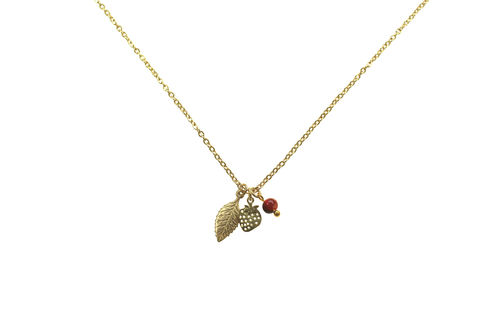 Strawberry,fields,charm,necklace,Charm necklace, Charms, Vintage jewellery, Custom jewellery, Bespoke jewellery, Gold chain necklace, Delicate jewellery