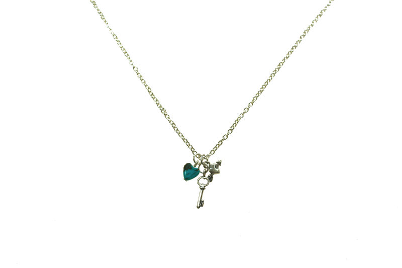 Heart & Key charm necklace - product image