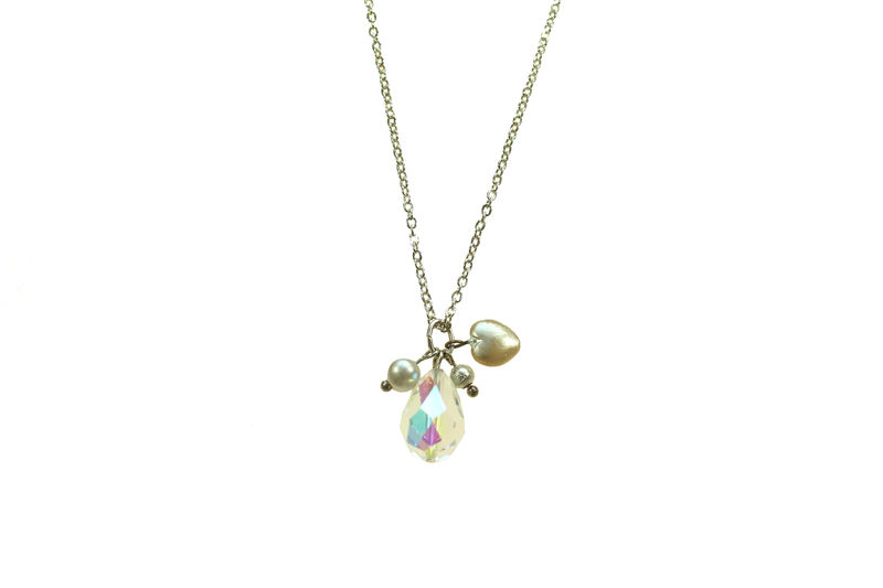 Vintage Crystal charm necklace - product image