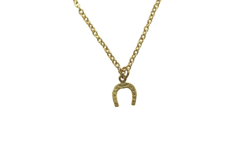 Horse Shoe charm necklace - product image