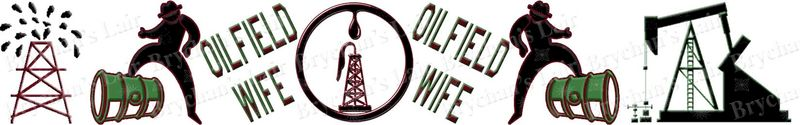 Oilfield Wife USA Designer Novelty Craft Supply Grosgrain Ribbon - product image