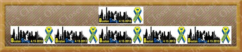 Boston Strong No2 - 2.2 Inch Repeat for Headband Grosgrain Ribbon - product image