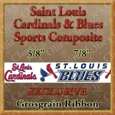 Saint,Louis,Cardinals,and,Blues,Designer,Exclusive,Sport,Composite,Grosgrain,Ribbon,Saint Louis Cardinals and Blues Designer Exclusive Sport Composite Grosgrain Ribbon, mlb grosgrain ribbon, nfl grosgrain ribbon, nba grosgrain ribbon, ncaa grosgrain ribbon, nhl grosgrain ribbon, custom printed grosgrain ribbon, designer grosgrain ribbon