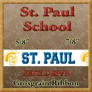 St,Paul,School,Custom,Designer,Grosgrain,Ribbon,St Paul School Custom Designer Grosgrain Ribbon, mlb grosgrain ribbon, nfl grosgrain ribbon, nba grosgrain ribbon, ncaa grosgrain ribbon, nhl grosgrain ribbon, custom printed grosgrain ribbon, designer grosgrain ribbon, team grosgrain rib