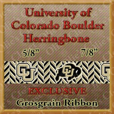 Colorado,Buffaloes,Herringbone,Olie's,Closet,Exclusive,Grosgrain,Ribbon,Colorado Buffaloes Herringbone Olies Closet Exclusive Grosgrain Ribbon