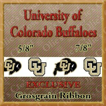 Colorado,Buffaloes,Olie's,Closet,Exclusive,Grosgrain,Ribbon,Colorado Buffaloes Olies Closet Exclusive Grosgrain Ribbon