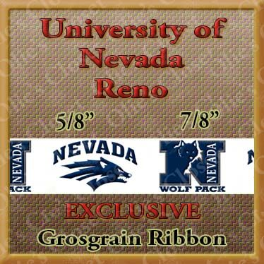 Nevada,Reno,Wolfpack,Olie's,Closet,Exclusive,Grosgrain,Ribbon,Nevada Reno Wolfpack Olies Closet Exclusive Grosgrain Ribbon