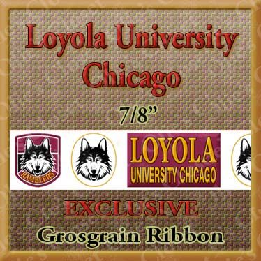 Loyola,Chicago,University,OC,Exclusive,Grosgrain,Ribbon,Loyola Chicago University Olies Closet Exclusive Grosgrain Ribbon