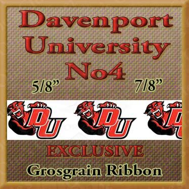 Davenport,University,Panthers,No4,Custom,Designed,Grosgrain,Ribbon,Davenport University Panthers No4  Custom Designed Grosgrain Ribbon, breed specific dog ribbon, craft dog ribbon, grosgrain ribbon, dog breed grosgrain ribbon, custom grosgrain ribbon, designer grosgrain ribbon, pedigree dog grosgrain rib