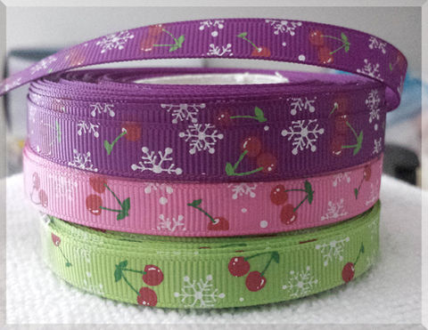 Michigan,Cherries,and,Snowflakes,Grosgrain,Ribbon,Candy Cane Christmas Dog Exclusive Limited Edition Grosgrain Ribbon, Christmas Dog ribbon, breed specific dog ribbon, craft dog ribbon, grosgrain ribbon, dog breed grosgrain ribbon, custom grosgrain ribbon, designer grosgrain ribbon, pedigree dog grosgrai