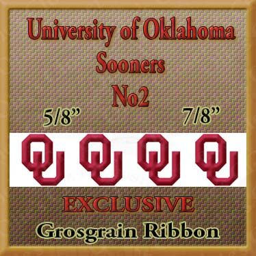 Oklahoma,Sooners,No2,Grosgrain,Ribbon,Oklahoma Sooners ribbon, mlb grosgrain ribbon, nfl grosgrain ribbon, nba grosgrain ribbon, ncaa grosgrain ribbon, nhl grosgrain ribbon, custom printed grosgrain ribbon, designer grosgrain ribbon, team grosgrain ribbon