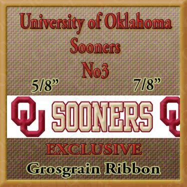 Oklahoma,Sooners,No3,Grosgrain,Ribbon,Oklahoma Sooners ribbon, mlb grosgrain ribbon, nfl grosgrain ribbon, nba grosgrain ribbon, ncaa grosgrain ribbon, nhl grosgrain ribbon, custom printed grosgrain ribbon, designer grosgrain ribbon, team grosgrain ribbon