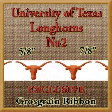 Texas,Longhorns,No2,Grosgrain,Ribbon,Texas Longhorns ribbon, mlb grosgrain ribbon, nfl grosgrain ribbon, nba grosgrain ribbon, ncaa grosgrain ribbon, nhl grosgrain ribbon, custom printed grosgrain ribbon, designer grosgrain ribbon, team grosgrain ribbon