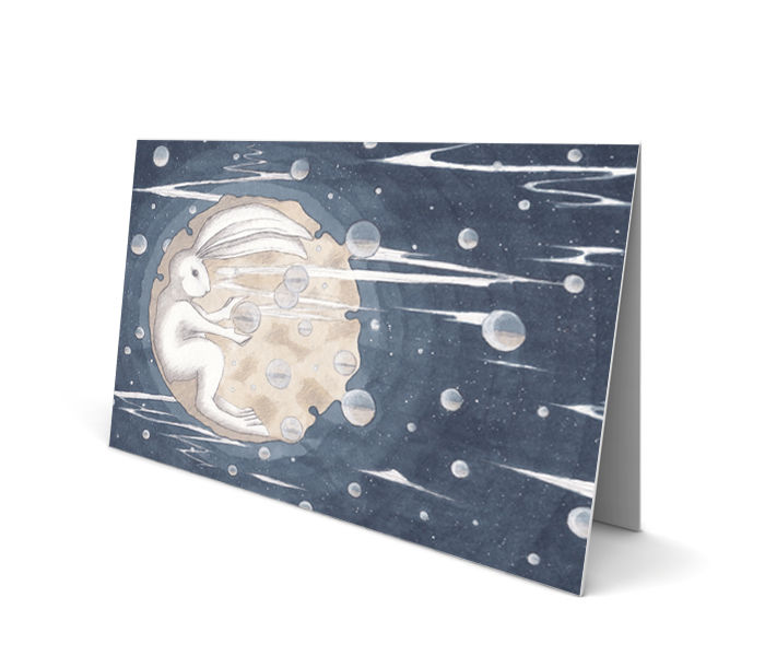 Moon Hare Greeting Card (SINGLE) - product images  of