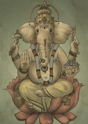 Ganesha Card (SINGLE) - product images  of