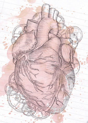Anatomical Heart Greeting Card (SINGLE) - product images  of