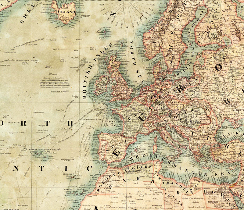 Wonderful Old World Map 1847 Mercator projection - product images  of