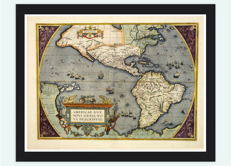 Old Map America Antique 1578 - product image