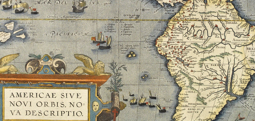 Old Map America Antique 1578 - product images  of