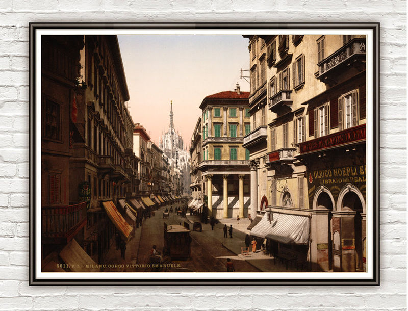 Vintage Photo of Milan Milano Italy Italia 1895 - product images