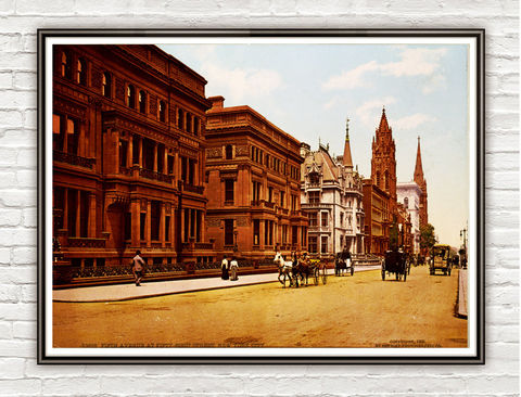 Vintage,Photo,of,New,York,,Fifth,Avenue,1900,Art,Reproduction,Open_Edition,gravures,united_states,north_america,vintage_poster,new_york,street_new_york,new_york_photo,ny_vintage,retro_new_york,new_york_poster,new_york_vintage,old_photo