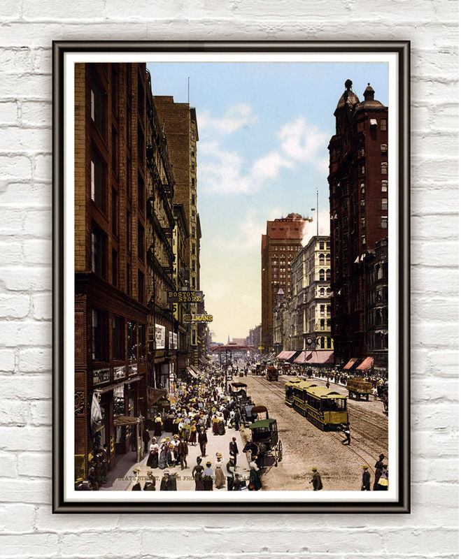Vintage Photo of Chicago, Madison Street 1900 - product images