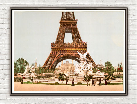 Vintage,Photo,of,Paris,,Tour,Eiffel,&,Exposition,Universelle,,France,,1889,Art,Reproduction,Open_Edition,vintage_poster,travel_poster,Paris_vintage,paris,paris_decor,paris_art,french_art,old_photo,paris_photo,France,eiffel_tower,exposition,old_paris