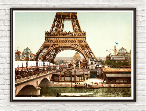 Vintage,Photo,of,Paris,,Tour,Eiffel,Tower,,France,1889,Art,Reproduction,Open_Edition,vintage_poster,travel_poster,Paris_vintage,paris,paris_decor,paris_art,french_art,old_photo,paris_photo,eiffel_tower,exposition,old_paris